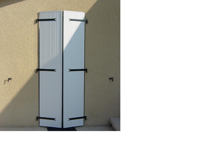 volet battant 2 vantaux plein pvc remplissage vertical